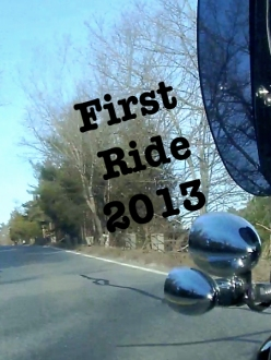 First Motorcycle Ride 2013