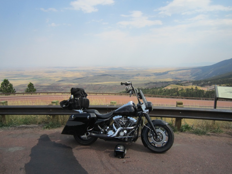 Two Weeks of gear on a Roadking on top of Big Horn Mountain