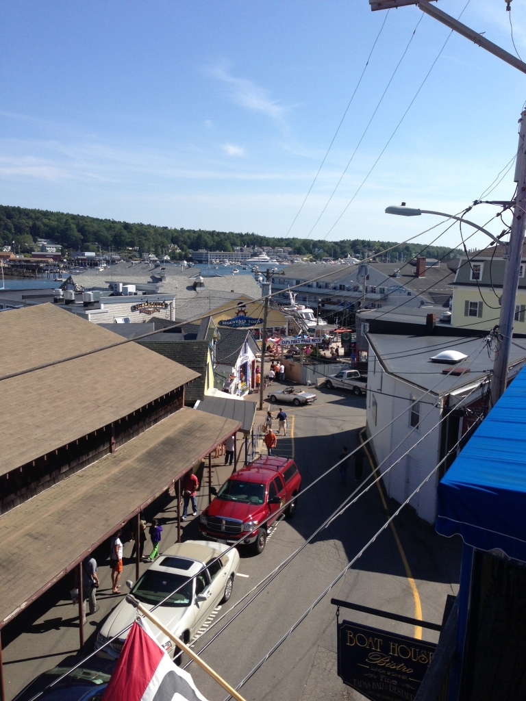 Roofdeck at the Boathouse Bistro in Boothbay Harbor