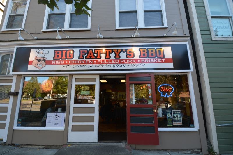 Big Fatty's BBQ in Burlington Vermont
