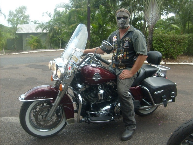 And to represent the American allied troops:  Duane Cox: Australian Army (RAEME) 9 years & Royal Australian Navy 5 years  2008 Harley Davidson Road King