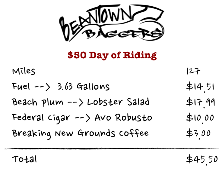 $50 Ride receipt Portsmouth NH by way of Harley Roadking