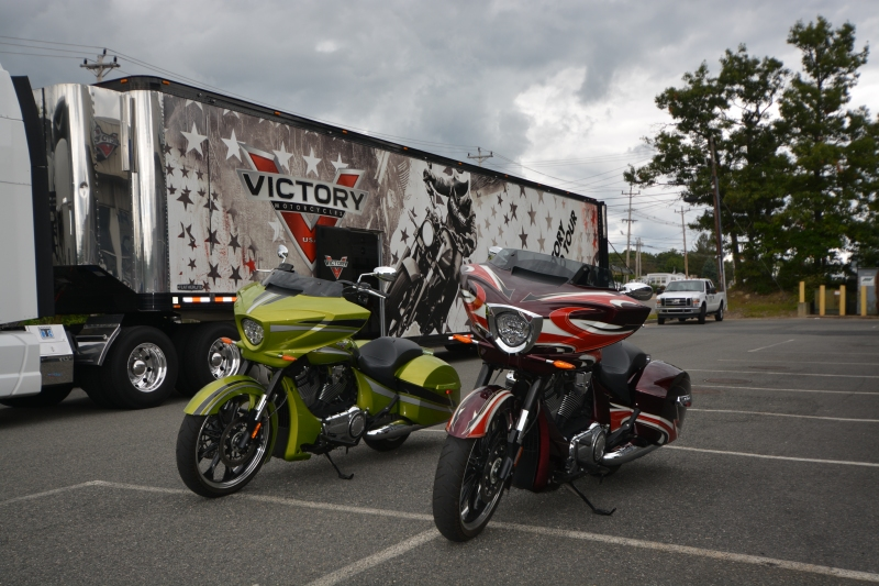 Victory Magnum Test Ride at Momsouth in Foxboro MA