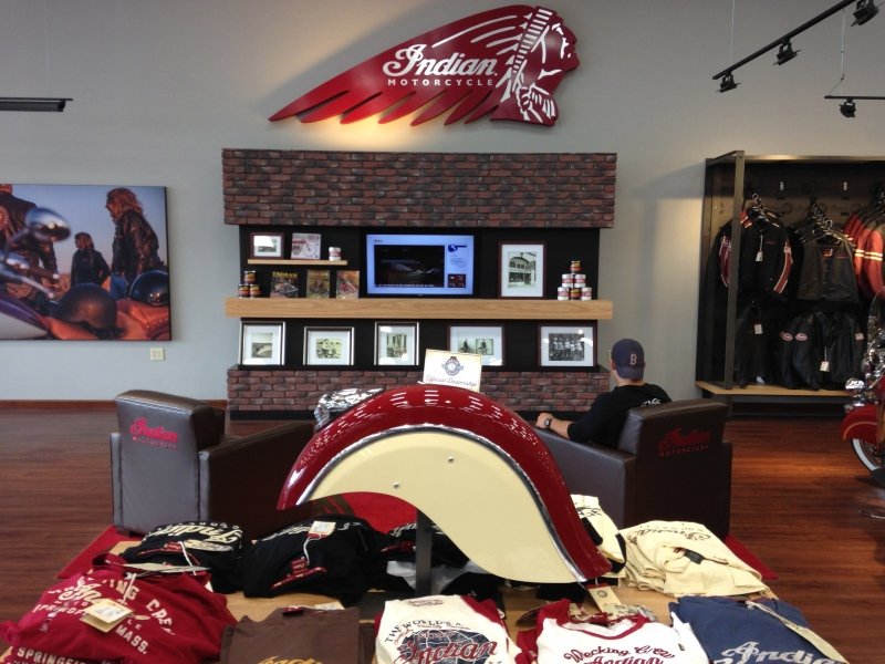 Indian Motorcycle Lounge at Momsouth in Foxboro, MA