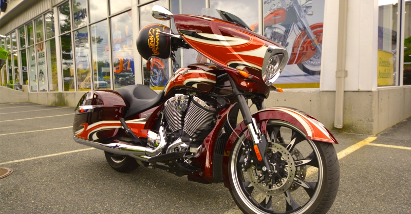 victory magnum test ride at momsouth in Foxboro